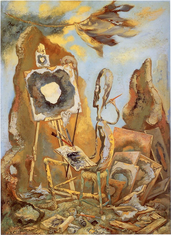 "George Grosz, ""The Painter of the Hole,"" 1948"