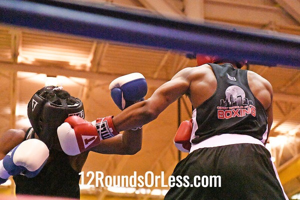 Bout #12: Armond Richards, Blue Gloves, Cleveland -vs- Yahmen Phelps, Red Gloves, Cincinnati,  141 Lbs.