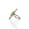 4.05ct Emerald and Old European Cut Diamond Ring 3