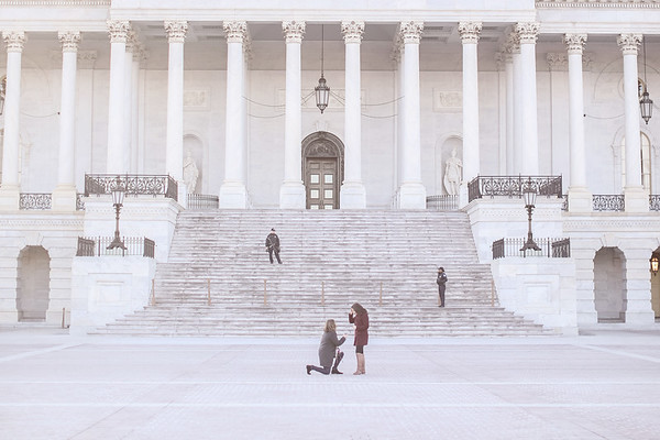 Washington DC proposal photos by Jalapeno Photography. For more lesbian engagement photos, see https://www.jalapenophotography.com