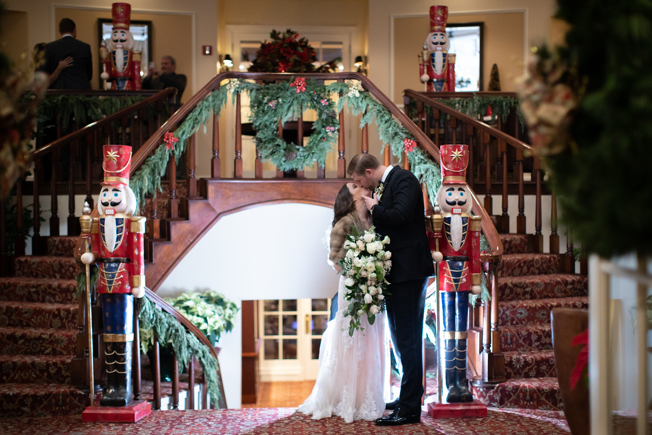 Wedding photos from LIzzie and Craig's New Year's Eve wedding in Washington DC at Norbeck Country Club.