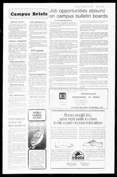 Daily Trojan, Vol. 67, No. 28, October 24, 1974