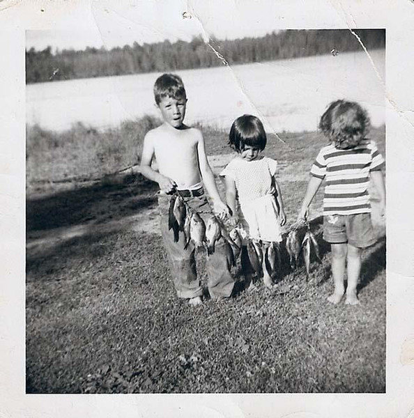 . Writes RITA GARCIA of Lake Elmo: �Around 1954, at Great-grandma & Great-grandpa Voight\'s farm, somewhere north of Grand Rapids, my big brother Rusty, me and sister Debbi caught the greatest sunnies and crappies using bamboo poles, cork bobbers, and worms. I got hooked on fishing and, with younger sister Joyce, am always looking for the lake with crappies like the ones we caught at the Voight farm.�