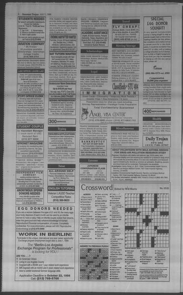 Summer Trojan, Vol. 134, No. 8, July 01, 1998