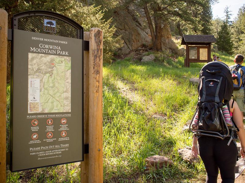 Hiking Corwina Mountain Park