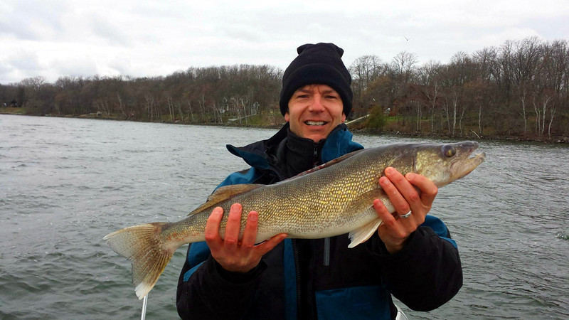 . Dave Soukup of Eden Prairie caught this  26 1/4-inch, 7.5-pound walleye on a jig-and-shiner while fishing Leech Lake May 15 and 16. (Photo courtesy Matt Beaman)