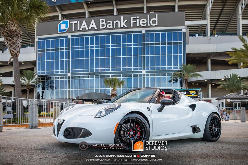 2019 Jax Cars and Coffee at TIAA Field 028 POSED - Deremer Studios LLC
