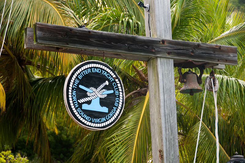 Sign at the Bitter End Yacht Club - British Virgin Islands
