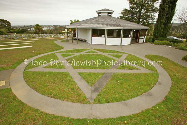 NEW ZEALAND, Auckland. Waikumete Cemetery, Beit Olam sector. (9.2010)