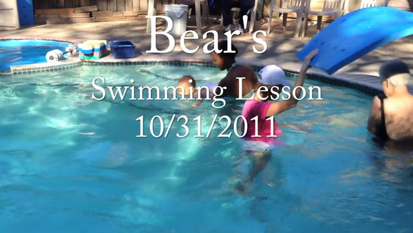 Bear's Swimming Lesson 10/31/2011