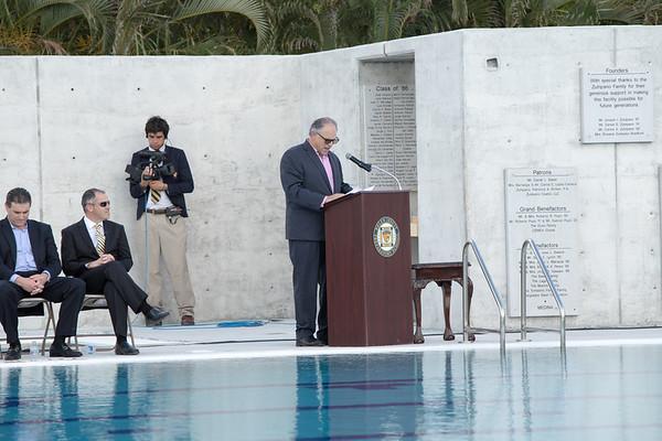 Blessing & Inauguration of the Gian Zumpano Aquatic Center