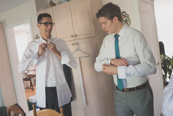 Marc and Emily: Groom Prep