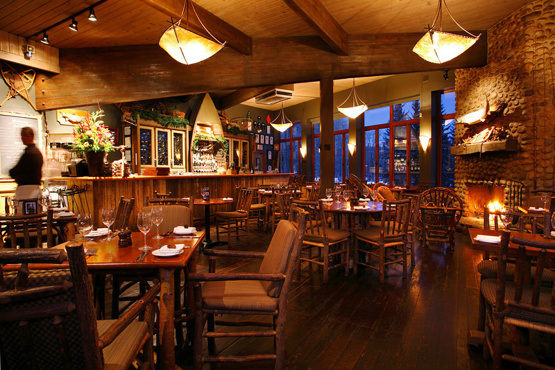 River Café Dining room and Bar at night