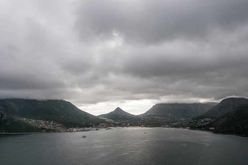 Panorama of Hout Bay in Cape Town, South Africa