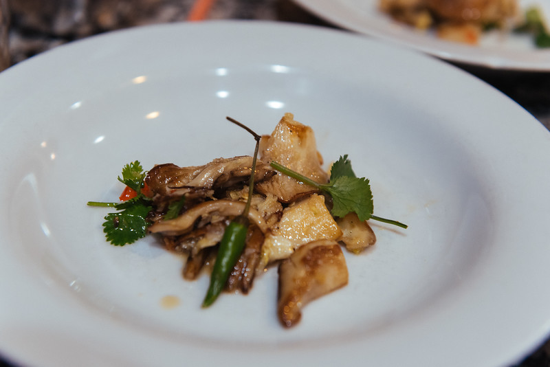 mushrooms with thai chili, lime, and dish sauce