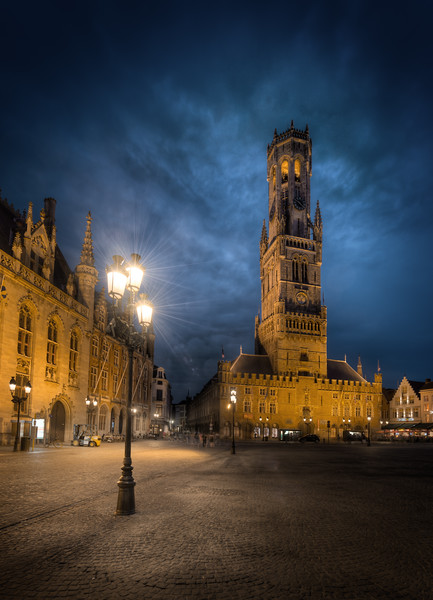 The Famous Bell tower in Bruges, Belgium. You can see it poking up from many places in the city.--Jacob Surlandwww.caughtinpixels.comArt sale as limited prints. Photo by Jacob Surland,  Licensed Creative Commons non-commercial v4.0.  No Derivative Work. Protected by Pixsy.com.