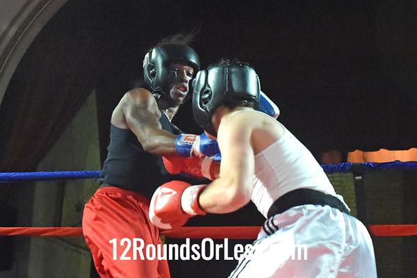 Bout 1 Dib Kaddah (Red Gloves), Wrestling Factory, Westlake -vs- Shawn Rall (Blue Gloves), Evolve MMA, Twinsburgh, 141 lbs, Novice