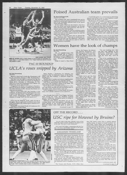 Daily Trojan, Vol. 94, No. 50, November 15, 1983