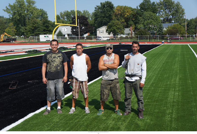 Some of the construction crew from Sports Construction Group, LLC .. a great hard working group of guys!