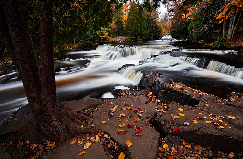 Autumn Adorn - Bond Falls (Bond Falls State Park - Upper Michigan)