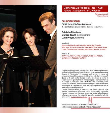 2014/02/23 GLI INDIFFERENTI Parole e musica da un Ventennio