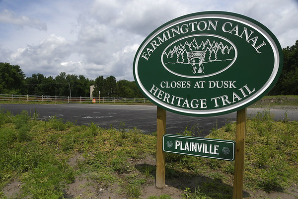 7/11/2017 Mike Orazzi | Staff The so-called Plainville gap, off Northwest Drive in Plainville along the Farmington Canal Heritage Trail where is connects to Farmington.