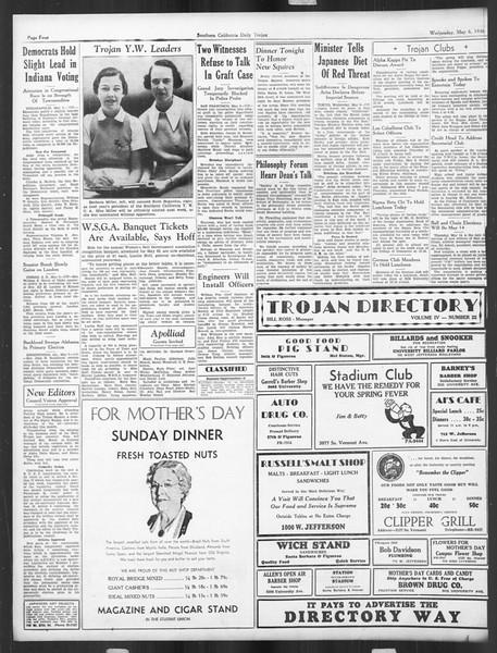 Daily Trojan, Vol. 27, No. 130, May 06, 1936
