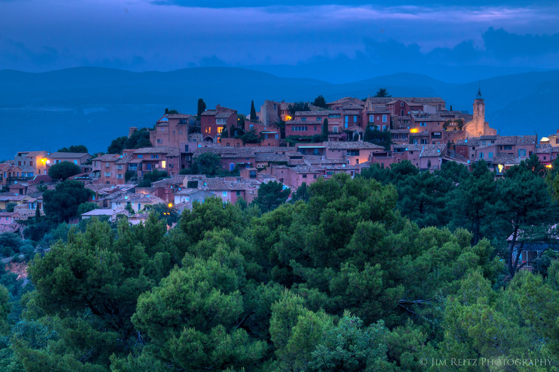 Sunset view of Roussillon.