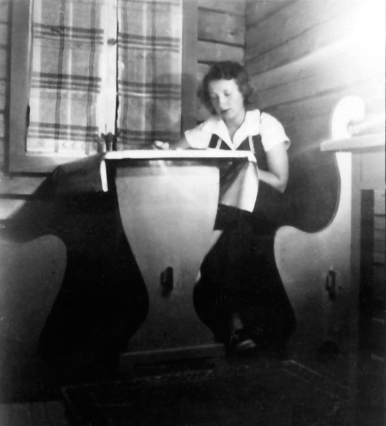 Mom (Mickey) at Homework