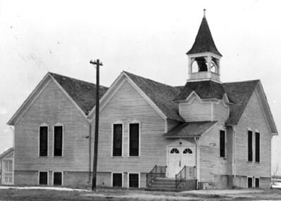 Undated photograph of Warring Memorial United Methodist Church, Whitney, Nebraska.