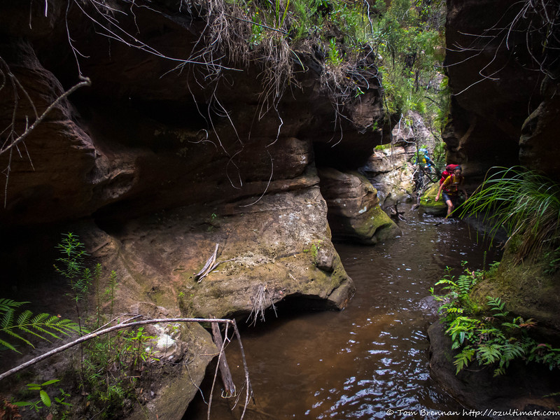 Toni and Smiffy in the shallow narrows