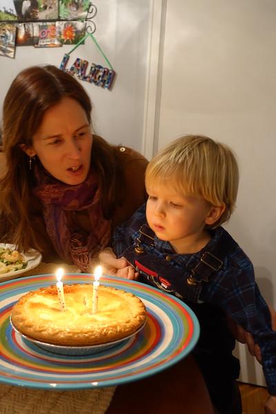 early Happy Birthday apple pie