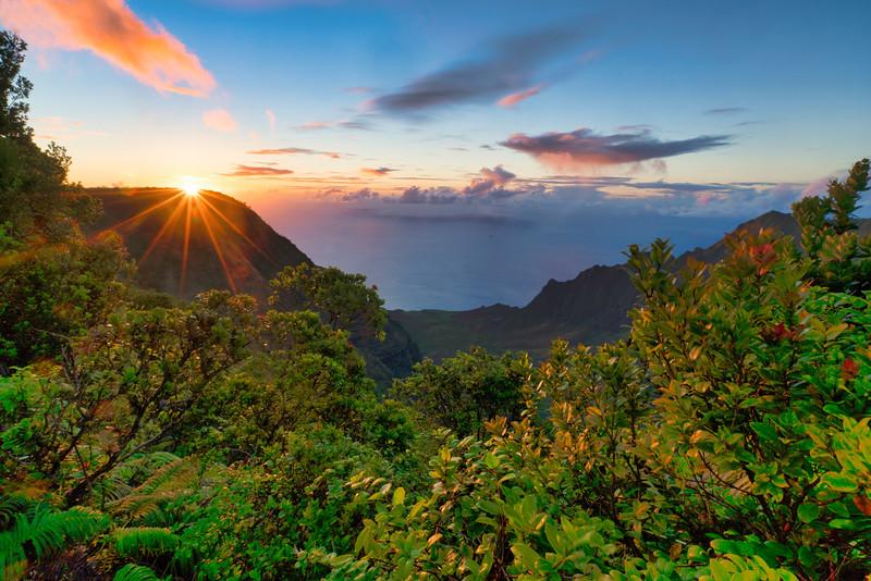 Sunset at Pu'U'Kila Lookout
