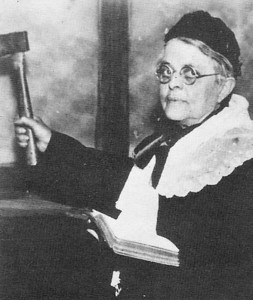 """Mention was made of Carrie Nation's visit to Spearfish.  In fact, according to Schuttler, Ms. Nation was in Spearfish twice.  The Women's Christian Temperance Union (WCTU) was founded in Evanston, Illinois, in 1873.  Dakota Territory chapters were formed as early as 1877.  Schuttler shared a story about how, following an 1890 court opinion that allowed South Dakota liquor stores to open, two Spearfish establishments promptly opened -- only to be shut down by the Women's Christian Temperance Union.  """"But the booze must have been stronger than the women of the WCTU,"""" said Schuttler, """"for in February of 1891, the Spearfish Council discussed ways to convince the two dealers to share their revenue with the city in the form of a $25/month fine  for the privilege of staying open.""""  WCTU may sound like an anachronism, but there continues to be a presence in South Dakota.  There's even a SD-WCTU website."""