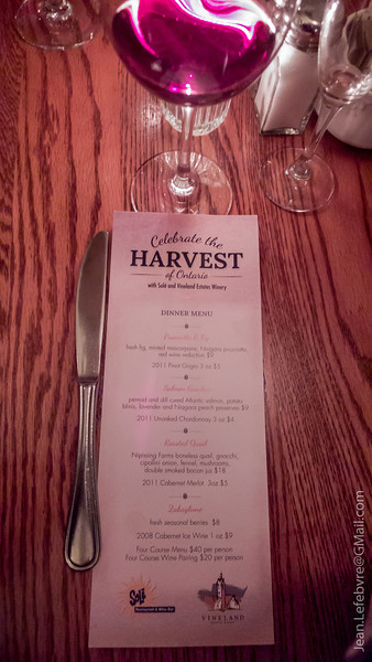 Sole Wine Matching Dinner, September 2012.