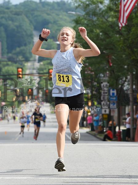 Harold Aughton/Butler Eagle: Samantha Cornell of Chicora won the women's 2k race.