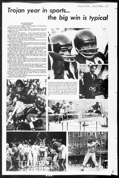 Daily Trojan, Vol. 60, No. 120, May 09, 1969