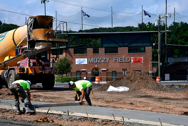 9/4/2019 Mike Orazzi | StaffrWorking being done of a new parking lot adjacent to Muzzy Field in Bristol on Wednesday.