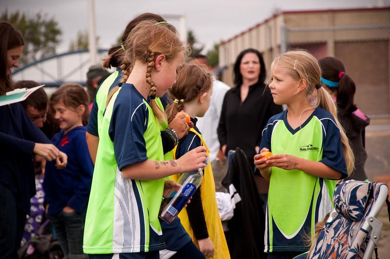 2012.09 - Soccer match vs. TB Stewart Blue Lightning - halftime