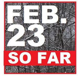 23 FEBRUARY (so far)