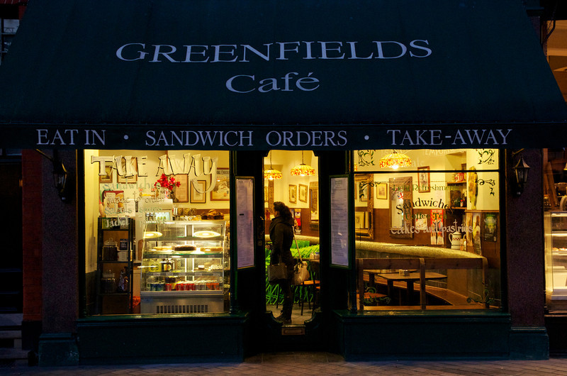 Greenfield's Café, Exhibition Road, London, early morning