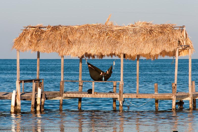 Hammock in a hut - Caye Caulker, Belize