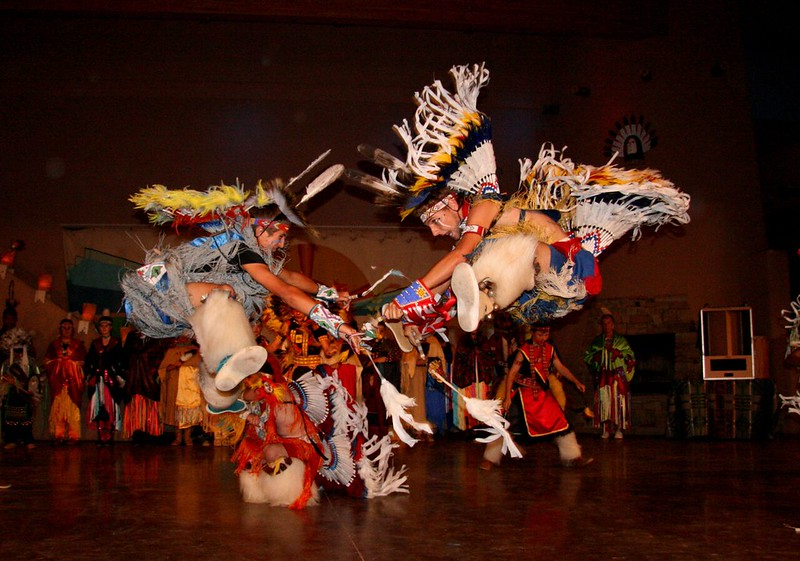 Native American dancers.