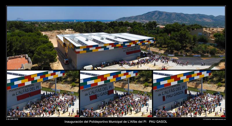 L'Alfàs del Pi - Inauguración Pabellón PAU GASOL
