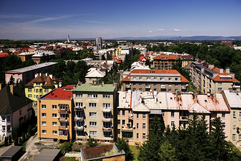 Pohled z hotelu Flora směrem na severozápad