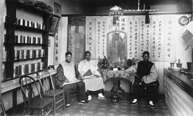 Chinese drug store and doctor's office, ca.1900