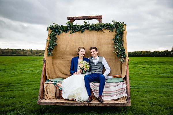 Godwick Hall & Great Barn Wedding - Becky & Matt