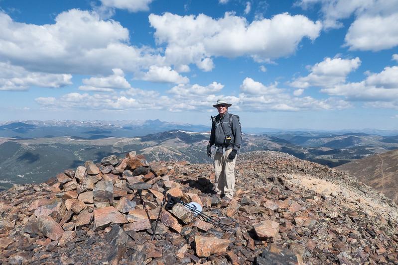 Tom atop Mosquito Peak 13,781 feet