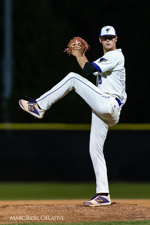 Holly Springs baseball senior Matt Wildness pitches in the Bobby Murray Invitational at Holly Springs High School. April 18, 2019. D4S_8339