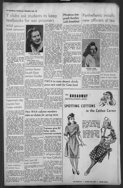 The Trojan, Vol. 35, No. 87, February 18, 1944